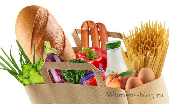правильное питание для похудения таблица продуктов