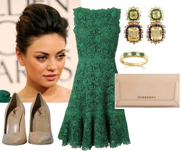 С Чем Носить Зеленое Платье Какие Туфли Колготки и